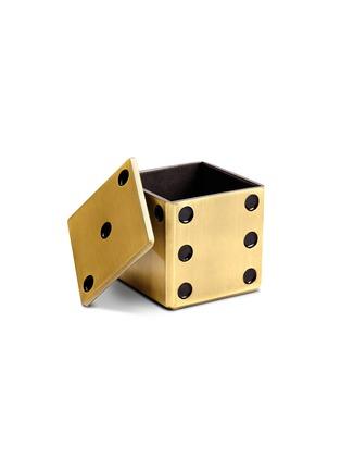细节 –点击放大 - L'OBJET - 仿旧黄铜色子收纳盒