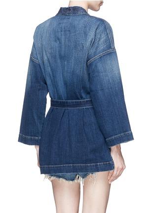 背面 - 点击放大 - Current/Elliott - The Kimono水洗磨破和服式牛仔外套