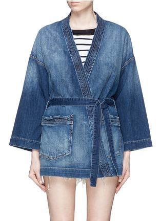 首图 - 点击放大 - Current/Elliott - The Kimono水洗磨破和服式牛仔外套