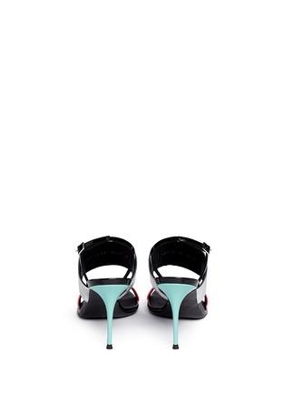 背面 - 点击放大 - GIUSEPPE ZANOTTI DESIGN - 拼色搭带漆皮高跟凉鞋