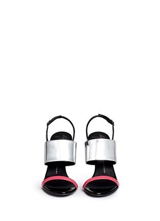 正面 - 点击放大 - GIUSEPPE ZANOTTI DESIGN - 拼色搭带漆皮高跟凉鞋