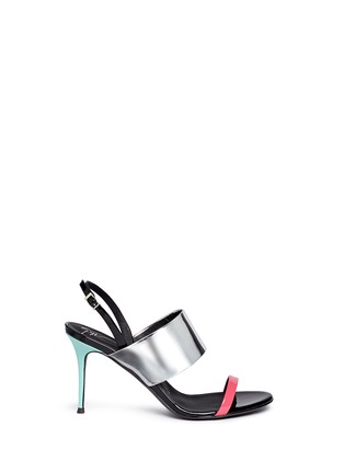 首图 - 点击放大 - GIUSEPPE ZANOTTI DESIGN - 拼色搭带漆皮高跟凉鞋