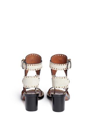 背面 - 点击放大 - ISABEL MARANT  - JAERYN孔扣装饰绒面牛皮高跟凉鞋
