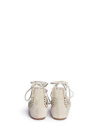 背面 - 点击放大 - ISABEL MARANT - 交叉绑带铆钉平底芭蕾舞鞋