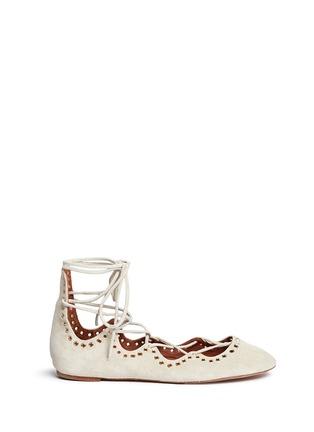 首图 - 点击放大 - ISABEL MARANT - 交叉绑带铆钉平底芭蕾舞鞋