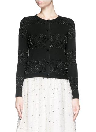 首图 - 点击放大 - ALICE + OLIVIA - 珠饰条纹羊毛针织外套
