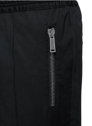 细节 - 点击放大 - DSQUARED2 - 压褶松紧带混羊毛休闲裤