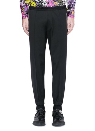首图 - 点击放大 - DSQUARED2 - 压褶松紧带混羊毛休闲裤