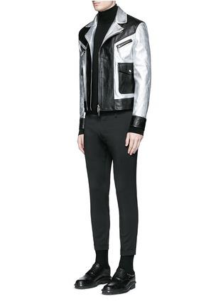 模特儿示范图 - 点击放大 - DSQUARED2 - 羊毛修身八分西服裤