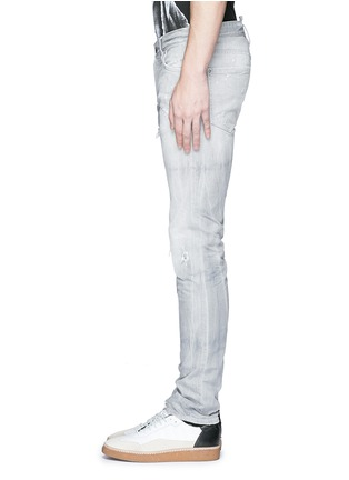 细节 - 点击放大 - DSQUARED2 - Slim水洗磨破修身牛仔裤
