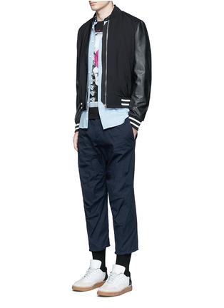 模特儿示范图 - 点击放大 - DSQUARED2 - 棉质八分斜纹布裤