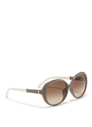 模特儿示范图 - 点击放大 - CHLOÉ - 圆形板材镜框太阳眼镜