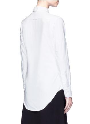 背面 - 点击放大 - THOM BROWNE - 罗缎拼接纯棉衬衫