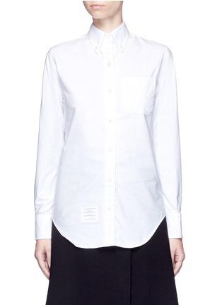 首图 - 点击放大 - THOM BROWNE - 罗缎拼接纯棉衬衫