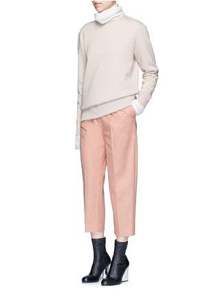 模特儿示范图 - 点击放大 - ACNE STUDIOS - CARLY不修边混棉卫衣