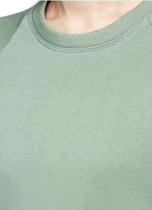 细节 - 点击放大 - ACNE STUDIOS - CASSIE粉色混棉卫衣