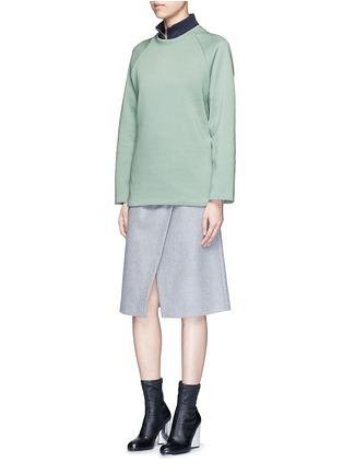 模特儿示范图 - 点击放大 - ACNE STUDIOS - CASSIE粉色混棉卫衣
