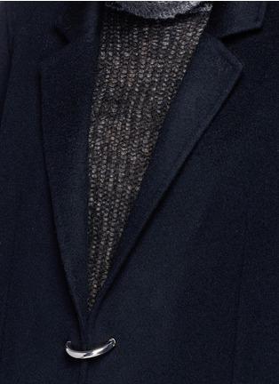 细节 - 点击放大 - ACNE STUDIOS - FOIN D形扣羊毛混羊绒大衣