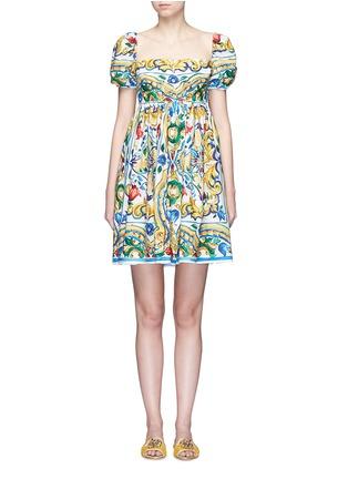 首图 - 点击放大 - DOLCE & GABBANA - 彩色花卉印花纯棉连衣裙