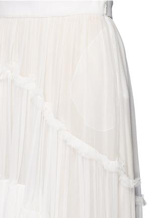 细节 - 点击放大 - CHLOÉ - 层次拼接真丝绉纱半身裙