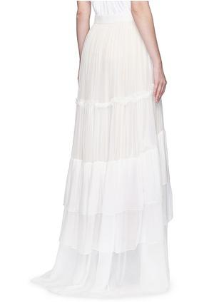 背面 - 点击放大 - CHLOÉ - 层次拼接真丝绉纱半身裙