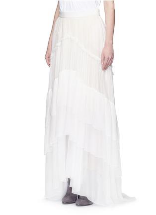 正面 - 点击放大 - CHLOÉ - 层次拼接真丝绉纱半身裙