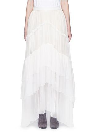 首图 - 点击放大 - CHLOÉ - 层次拼接真丝绉纱半身裙