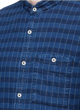 细节 - 点击放大 - DENHAM - 立领格纹纯棉衬衫