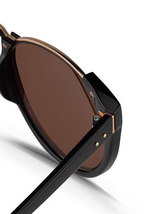 细节 - 点击放大 - LINDA FARROW - 板材半框Wayfarer太阳眼镜