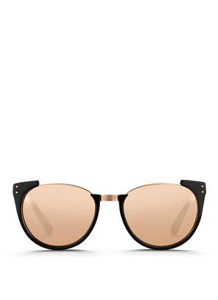 首图 - 点击放大 - LINDA FARROW - 板材半框Wayfarer太阳眼镜
