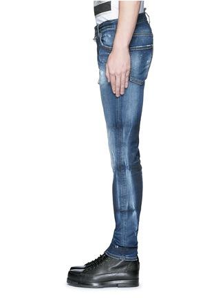 细节 - 点击放大 - DSQUARED2 - Cool Guy金属环装饰水洗磨破牛仔裤