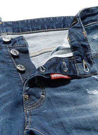 - DSQUARED2 - Cool Guy金属环装饰水洗磨破牛仔裤
