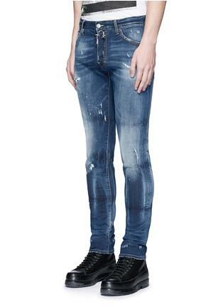 正面 -点击放大 - DSQUARED2 - Cool Guy金属环装饰水洗磨破牛仔裤