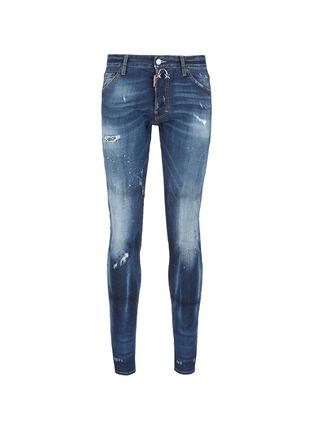 首图 - 点击放大 - DSQUARED2 - Cool Guy金属环装饰水洗磨破牛仔裤
