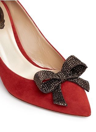 细节 - 点击放大 - RENÉ CAOVILLA - X BLITZ仿水晶结饰绒面皮细高跟鞋