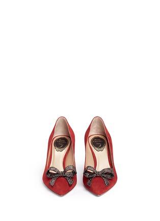 正面 - 点击放大 - RENÉ CAOVILLA - X BLITZ仿水晶结饰绒面皮细高跟鞋