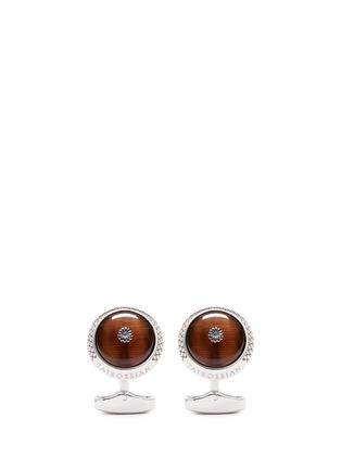 首图 - 点击放大 - TATEOSSIAN - 虎眼石纯银袖扣