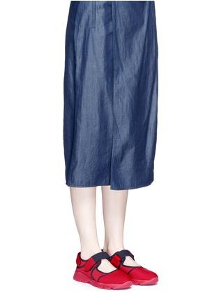 模特示范图 - 点击放大 - Marni - 太空棉网眼拼接运动鞋
