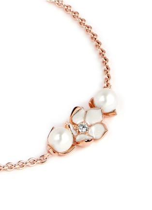 细节 - 点击放大 - SHAUN LEANE - Cherry blossom diamond and cultured pearl bracelet