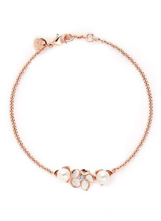 首图 - 点击放大 - SHAUN LEANE - Cherry blossom diamond and cultured pearl bracelet