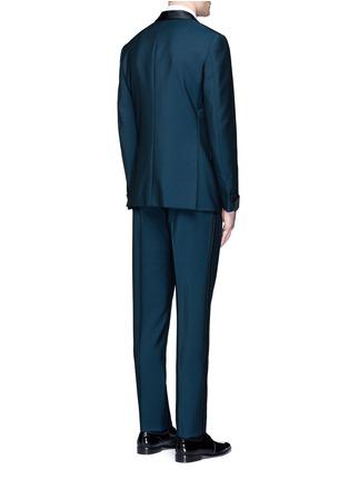 背面 - 点击放大 - BOGLIOLI - 缎面拼接羊毛混马海毛礼服套装