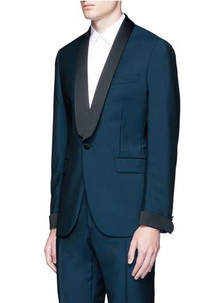 正面 -点击放大 - BOGLIOLI - 缎面拼接羊毛混马海毛礼服套装