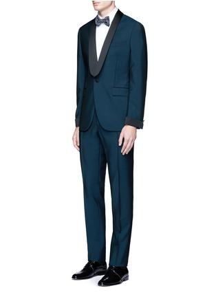 模特儿示范图 - 点击放大 - BOGLIOLI - 缎面拼接羊毛混马海毛礼服套装