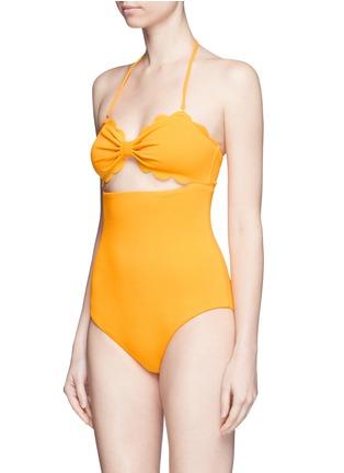 模特儿示范图 - 点击放大 - MARYSIA - ANTIBES波浪蝴蝶结镂空连体泳衣