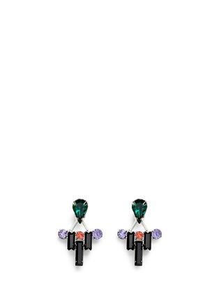 首图 - 点击放大 - JOOMI LIM - Pixel Perfect仿水晶装饰垂坠耳环