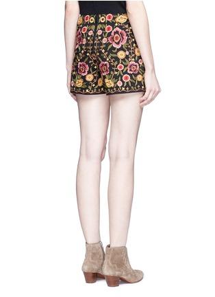 背面 - 点击放大 - ALICE + OLIVIA - 花卉刺绣棉质短裤