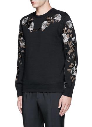 正面 -点击放大 - ALEXANDER MCQUEEN - 花卉刺绣纯棉卫衣
