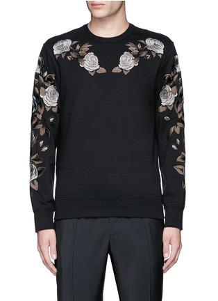 首图 - 点击放大 - ALEXANDER MCQUEEN - 花卉刺绣纯棉卫衣