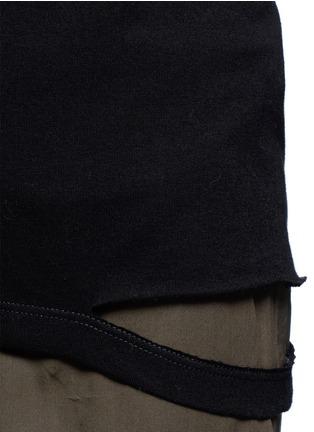 细节 - 点击放大 - HELMUT LANG - 切割装饰纯棉T恤