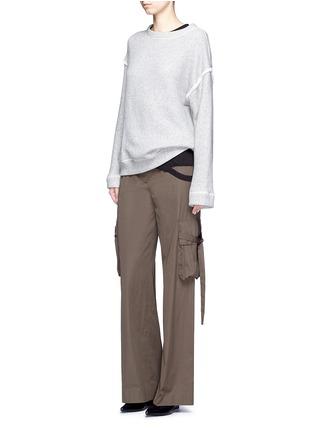 模特示范图 - 点击放大 - HELMUT LANG - 切割装饰纯棉T恤